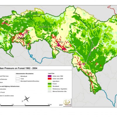 Land use and urban pressure on forest - 2007