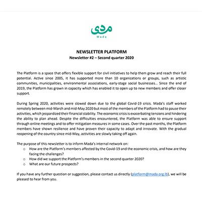 NewsletterQ2 Plateforme